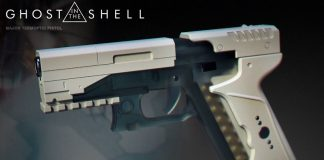 Ghost in the Shell The Major's Thermoptic Pistol 3D Print Header Image htxt.africa