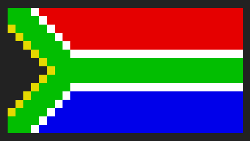 South Africans band together to recreate the flag in Reddit's