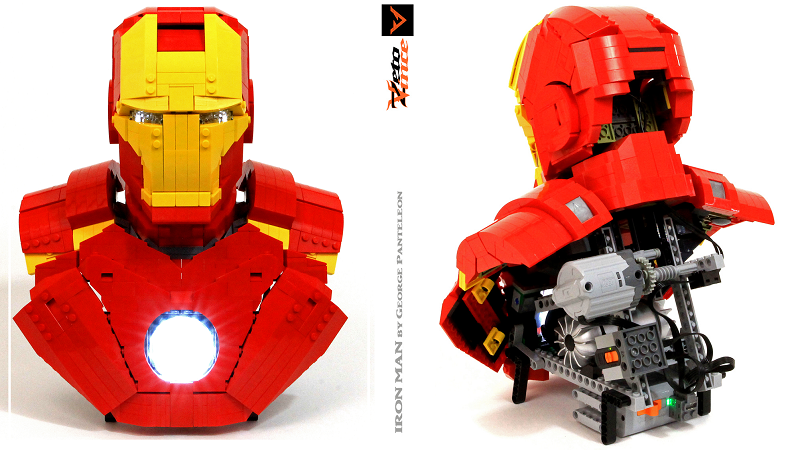 This Lego Iron Man Moves And Has A Glowing Arc Reactor