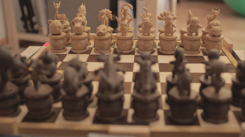 picture relating to Printable Chess Pieces referred to as This wood Pokémon chess preset is virtually 3D released - htxt