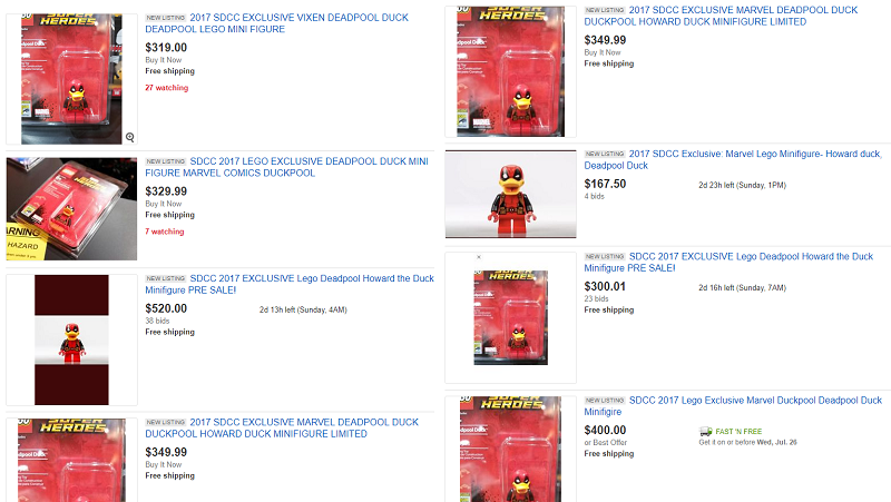 Here's a cool Deadpool the Duck LEGO minifigure you can't