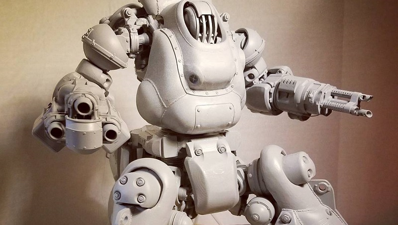 bethesda artist creates 3d printed sentry bot from fallout 4 htxt