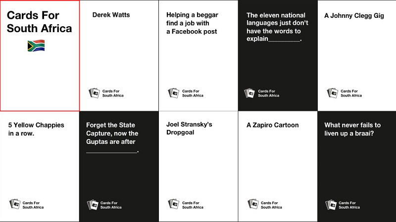 graphic relating to Cards Against Humanity Printable named Assist end the South African variation of Playing cards Versus