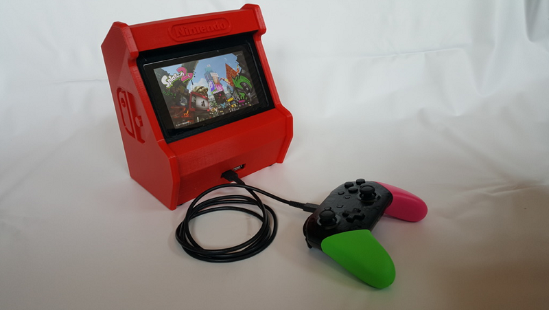This 3d Print Turns The Nintendo Switch Into An Arcade