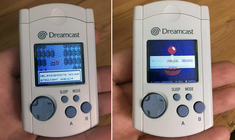 Emulators on the Dreamcast VMU thanks to a Raspberry Pi