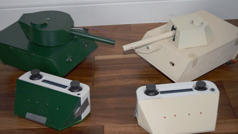 Play laser tag with these raspberry pi arduino tanks