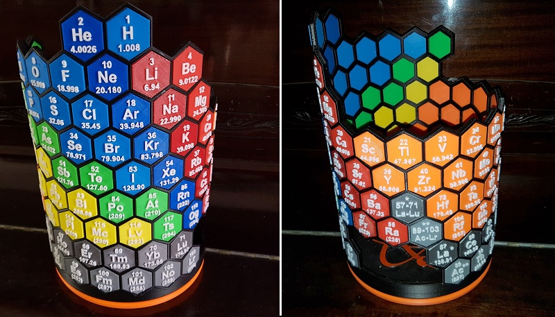 This Periodic Table Art Piece Is 3d Printed Htxtrica