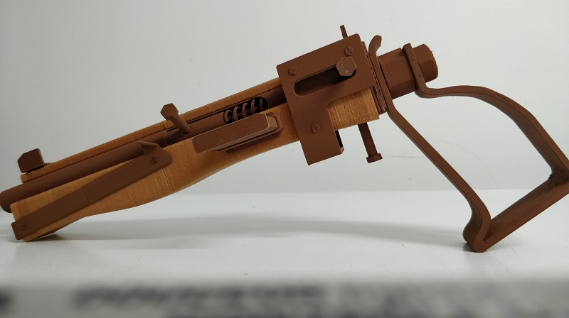 fallout 4 s pipe pistol 3d printed with copper and wood filament