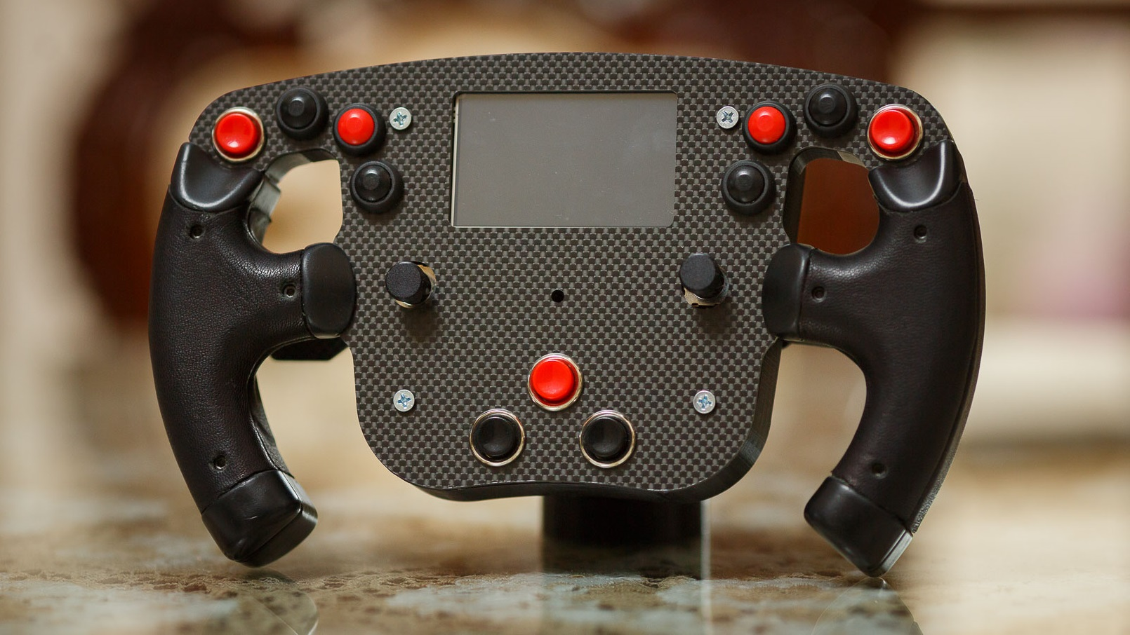 Custom Arduino steering wheel adds F1 functionality to