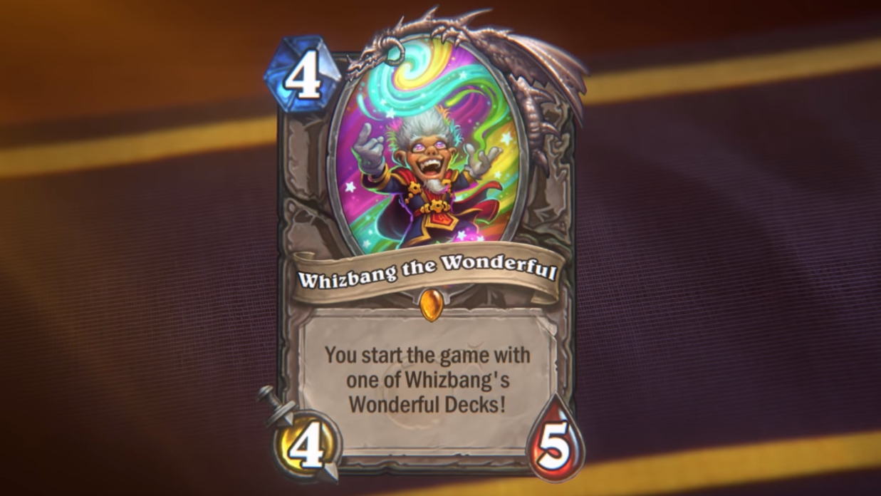 this hearthstone card will give players a random deck to play htxt