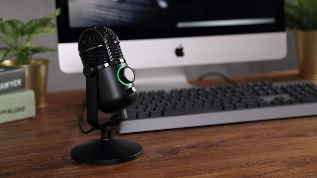 streaming or podcasting do both with the volkano stream series pro usb microphone. Black Bedroom Furniture Sets. Home Design Ideas