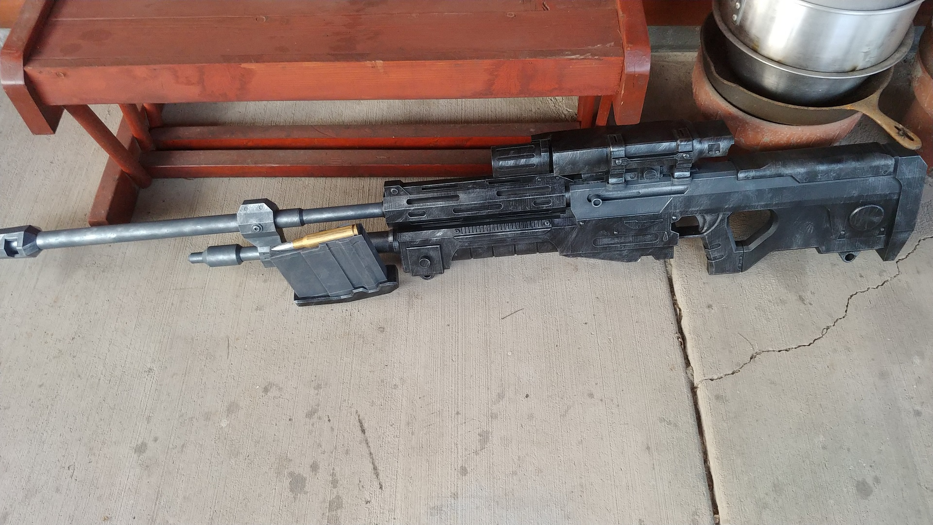 3D Print of Halo's SRS99-AM sniper rifle is ludicrously