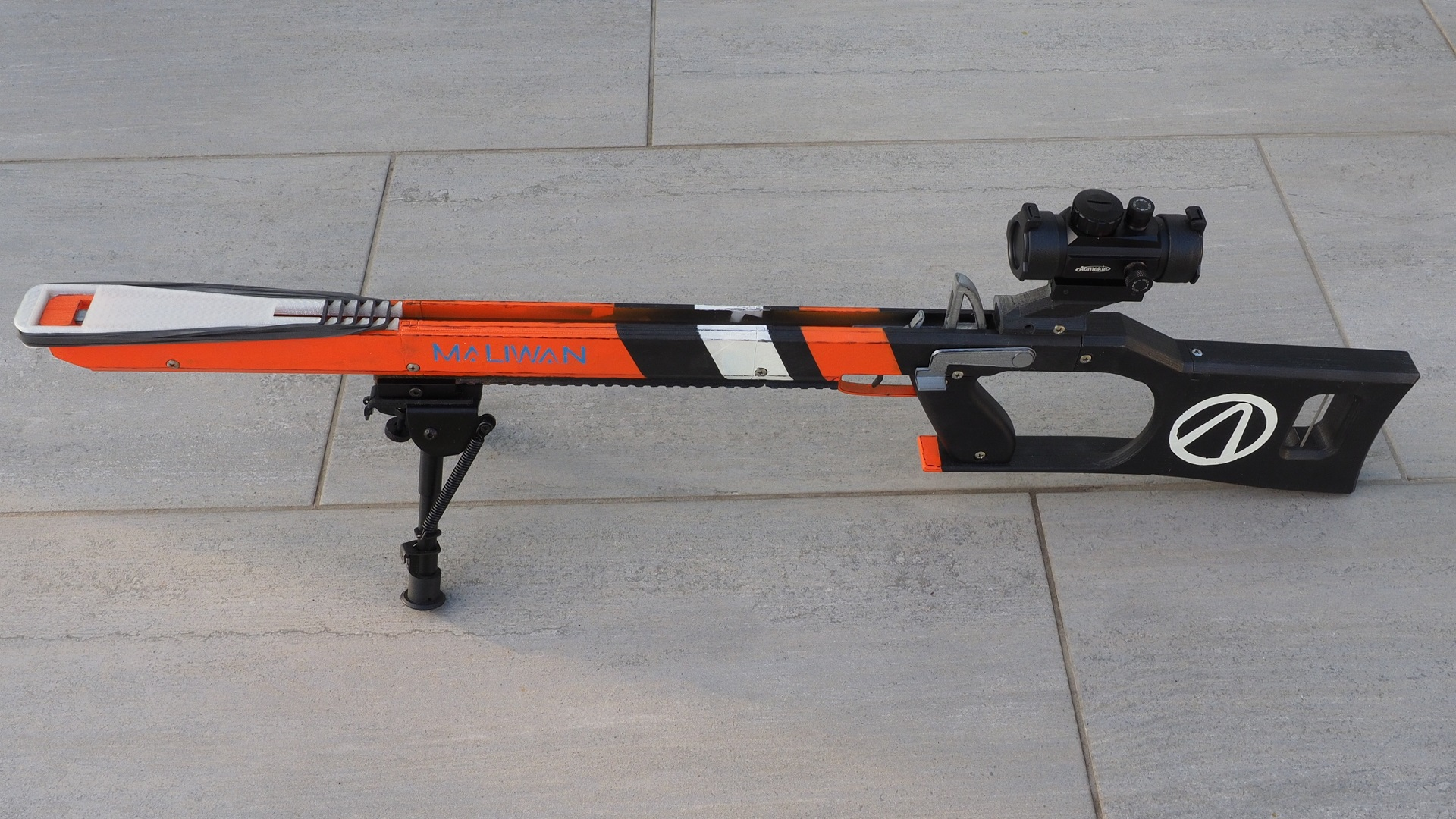 3D Printed Borderlands rifle is a repeating rubber band gun