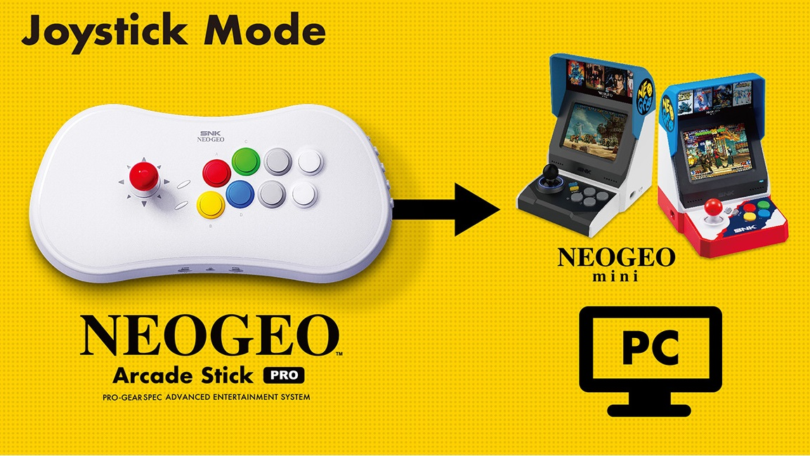 Neo Geo Arcade Stick Pro is a console as well as a